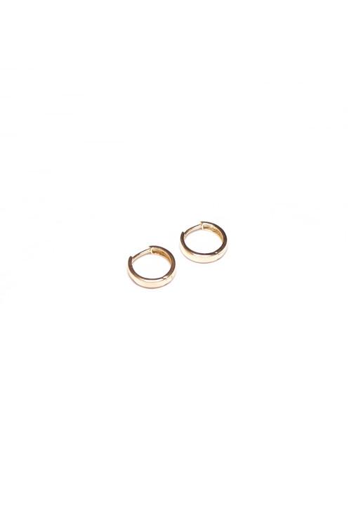 bdfd8ff7b7ac Descripción  Dos pequeños aros de plata 925 bañados en oro de 24 kilates