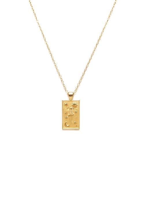 Medallón Daga Oro