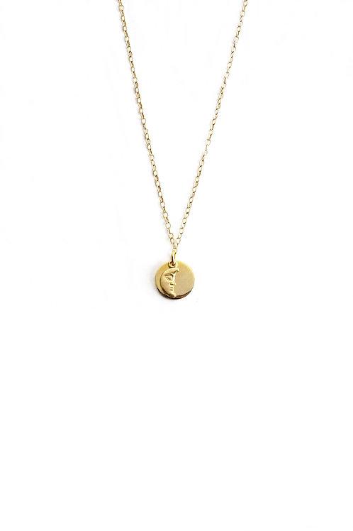 Colgante Amuleto Luna Oro