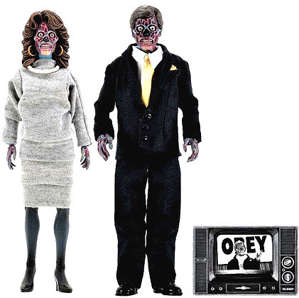 Neca They Live 8″ Clothed Alien 2 Pack Action Figures