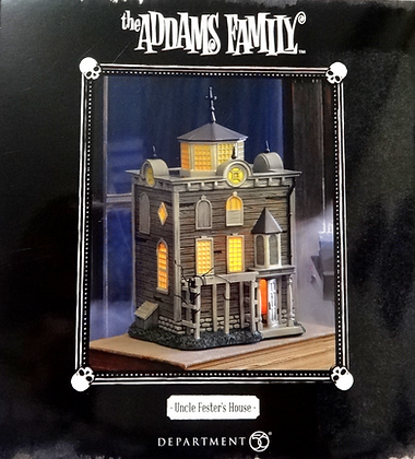 Department 56 The Addams Family Uncle Fester's House Light Up Statue