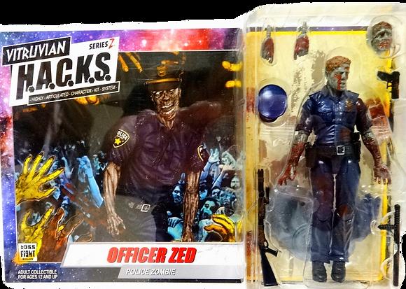 Vitruvian H.A.C.K.S. Series Z Officer Zed Zombie Police Officer Action Figure