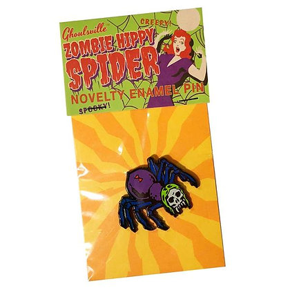 Enamel Pin Zombie Hippy Spider