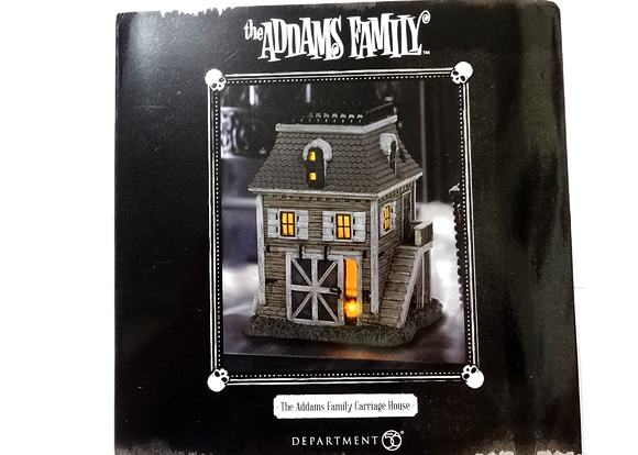 The Addams Family Hot Properties Village Carriage House Statue
