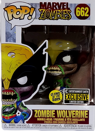 Funko Marvel Zombies Wolverine Glow in the Dark EE Exclusive