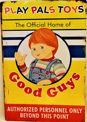Child's Play 2 Play Pals Metal Sign Prop