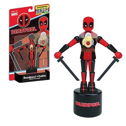 Deadpool and Cable Wooden Push Puppet EE Exclusive