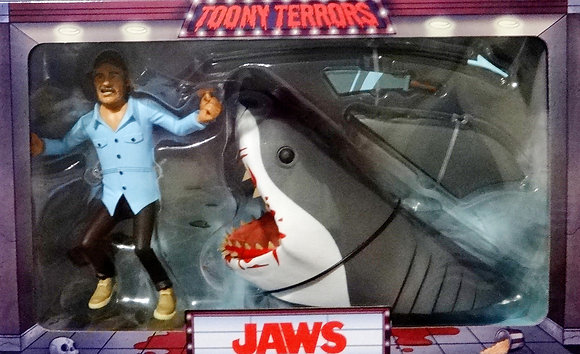 Toony Terrors Jaws Quint and Shark 2-Pack Action Figures