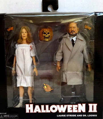 Halloween 2 1981Clothed Dr Loomis & Laurie Strode 2 Pack Action Figure