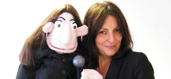 Davina McCall and her personal puppet