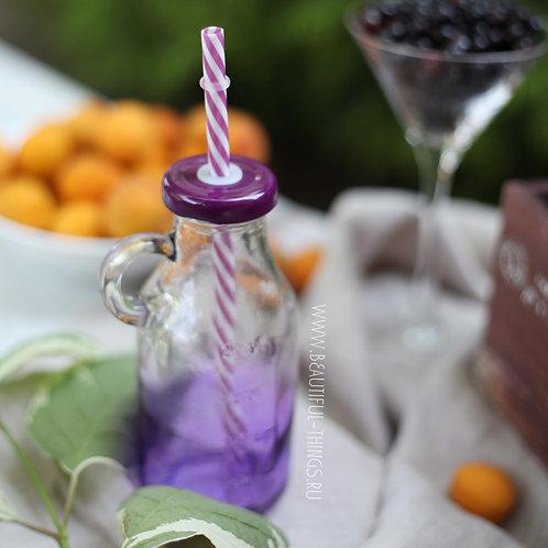 Бутылочка для смузи, фиолетовая (цветная)