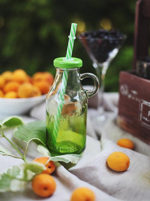 Бутылочка для смузи, зеленая (цветная)
