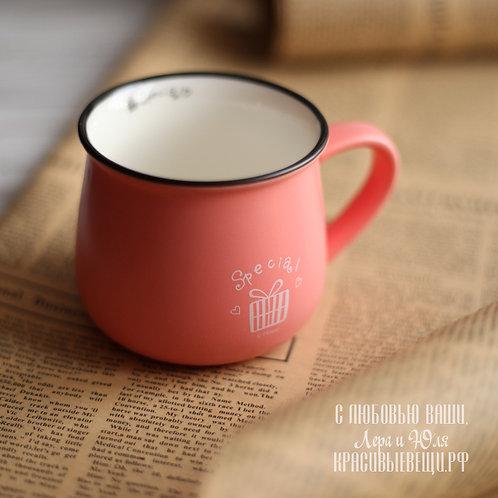 """Кружка """"Original Ceramics.Special"""" персиковая, 280 мл."""