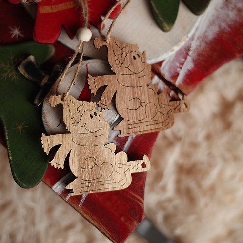 Деревянная игрушка «Снеговик» (цена за 1 шт.)