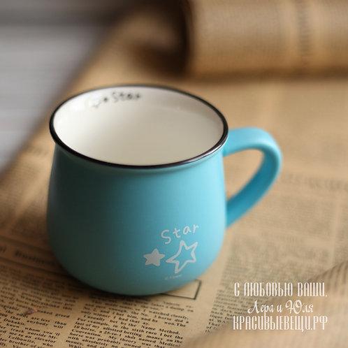 """Кружка """"Original Ceramics.Star"""" голубая, 280 мл."""