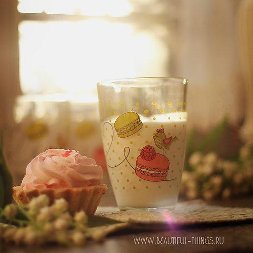 """Стеклянный стакан """"Макаронс"""""""