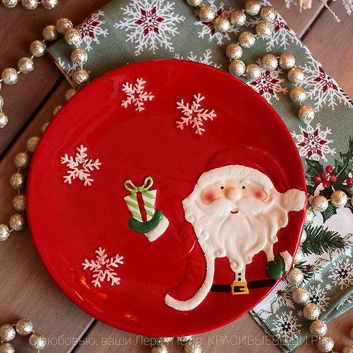 Тарелка новогодняя «Дед Мороз»
