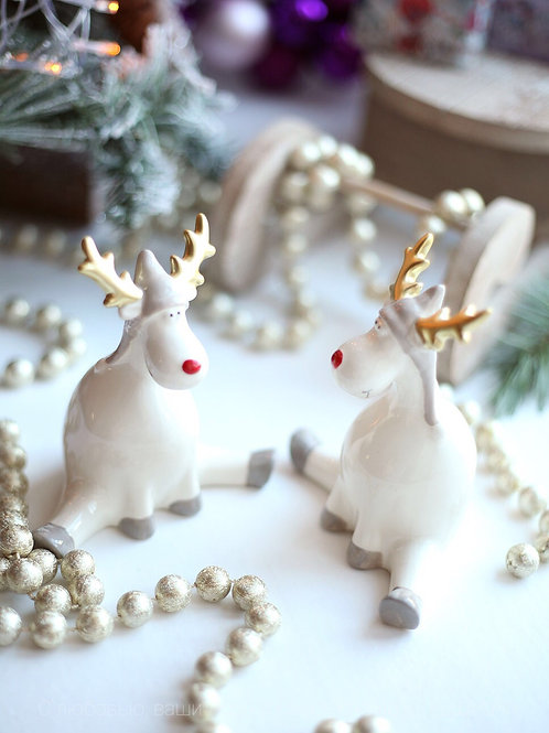 Набор новогодних фигурок «Олени»