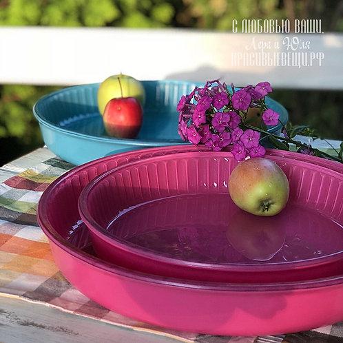 Блюдо для запекания, розовое, 30 см.