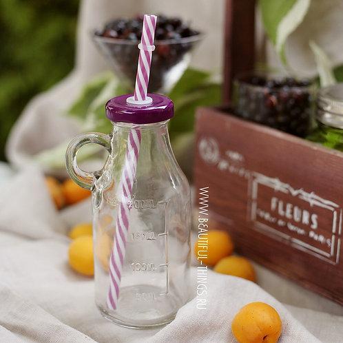 Бутылочка для смузи, фиолетовая