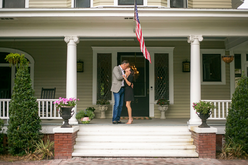 front porch anniversary photo session