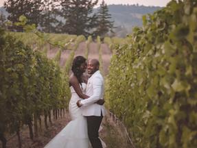 Annie and Guy at Zenith Vineyard