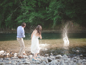 Elsie and Andy by the River