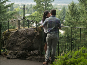The Grotto with Two Love Birds