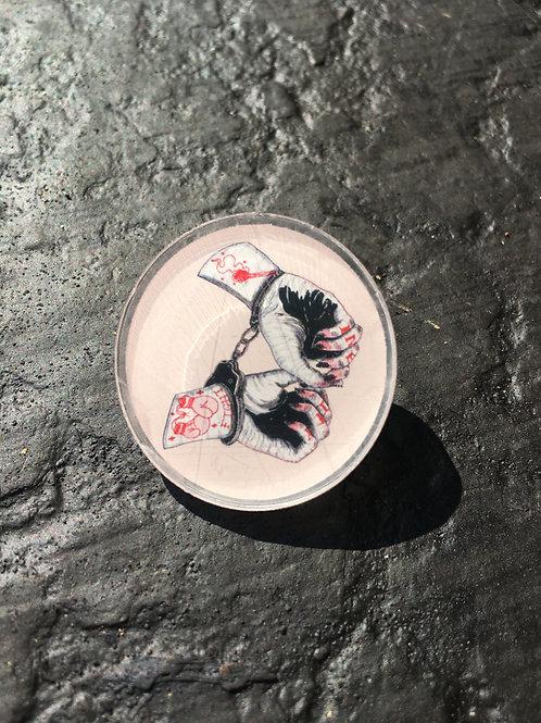 Innocent Hands Acrylic Pin