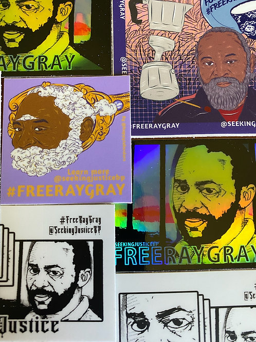 Free Ray Gray Sticker Pack