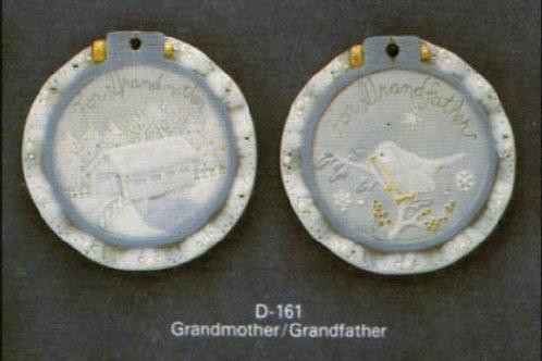 Grandma and Grandfather ornaments