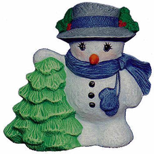 Nowell's Snowman w/Tree