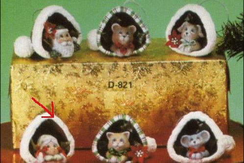 Dona's Santa hat ornaments