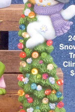 Clay Magic Snowman Tree Climber (Let It Snow)