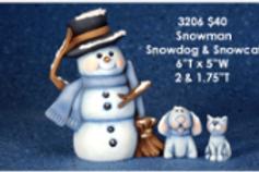 Clay Magic Snowman, Snowdog & Snowcat