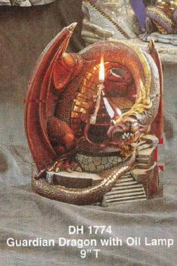 Guardian Dragon w/Oil Lamp