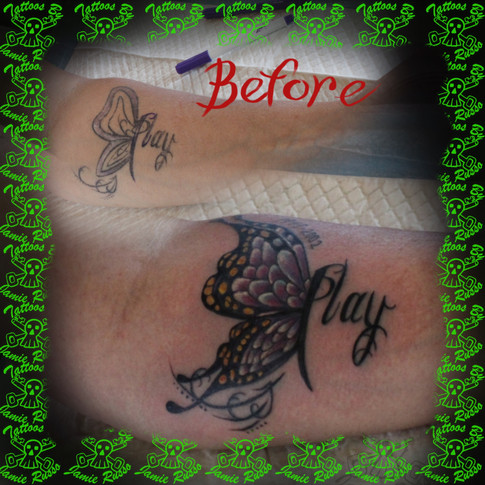 butterfly fix up. Tattoo By Jamie Russo Barrie