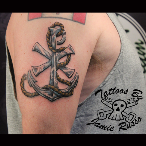 anchor Tattoo by Jamie Russo Barrie