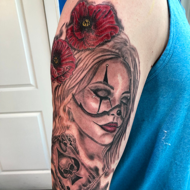 Tattoo by Scotty Crypt Pushing inc Barrie