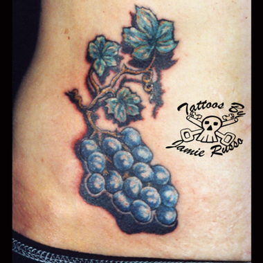 Blueberry Tattoo by Jamie Russo Barrie