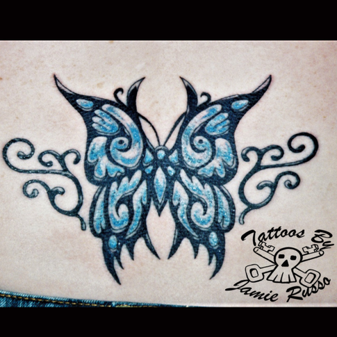 Butterfly Tattoo By Jamie Russo Barrie