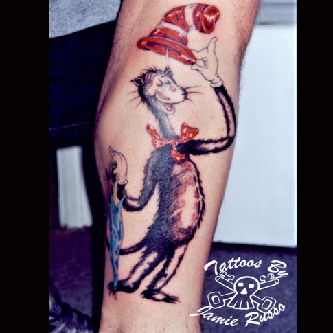 Cat in the hat Tattoo By Jamie Russo Barrie