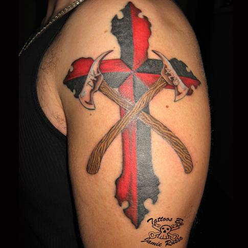 cross Tattoo by Jamie Russo Barrie
