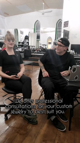 Interested in getting custom jewelry? Come in for a consultation with Nic!