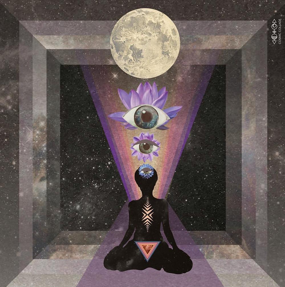 Art by Lori Men of Cosmic Collage