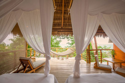 Eco-chic suite ~ two double beds
