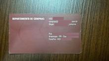 O cartão do Departamento de Compras!