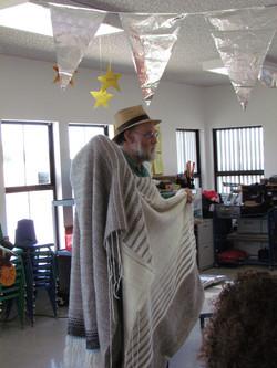 Handspun, handwoven blanket