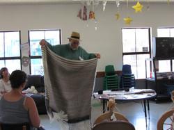 Handspun and woven blanket