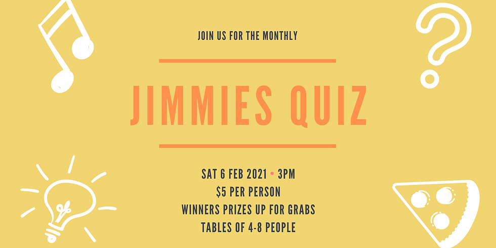 Jimmies Monthly Quiz